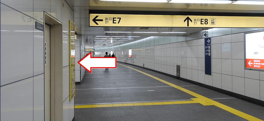 E7出口から地上へ